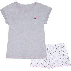 Piżama z krótkimi spodenkami 10 - 16 lat. Szare bielizna chłopięca DIM, z napisami, z bawełny, eleganckie. Za 125,96 zł.