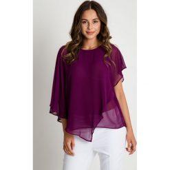 Bluzki asymetryczne: Asymetryczna bluzka z przeźroczystej mgiełki BIALCON