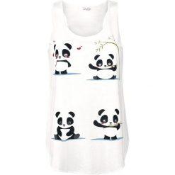 Innocent Panda Vibes Vest Top damski biały. Niebieskie topy damskie marki Innocent, xl, w ażurowe wzory, z materiału, z dekoltem na plecach. Za 74,90 zł.