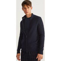 Sweter zapinany na zamek - Granatowy. Niebieskie swetry rozpinane męskie marki Armor lux, m. Za 99,99 zł.