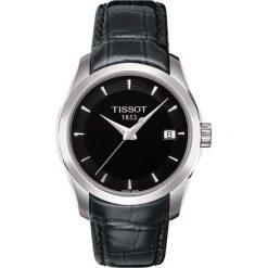 PROMOCJA ZEGAREK TISSOT T- CLASSIC T035.210.16.051.00. Czarne zegarki damskie TISSOT, ze stali. W wyprzedaży za 1051,59 zł.