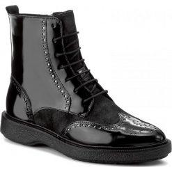 Botki GEOX - D Prestyn A D745WA 038PV C9999 Black. Czarne buty zimowe damskie Geox, ze skóry ekologicznej. W wyprzedaży za 349,00 zł.