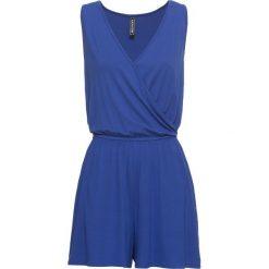 Kombinezon shirtowy bonprix błękit królewski. Niebieskie kombinezony damskie bonprix, z dekoltem w serek, na ramiączkach. Za 54,99 zł.