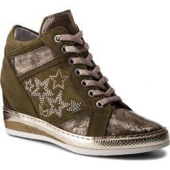 Sneakersy KHRIO - 181K7114PKSQ Oliva/Oliva/Bianco. Zielone sneakersy damskie Khrio, z materiału. W wyprzedaży za 399,00 zł.