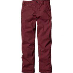 Spodnie ze stretchem chino Slim Fit Straight bonprix bordowy. Czerwone rurki męskie marki bonprix. Za 89,99 zł.