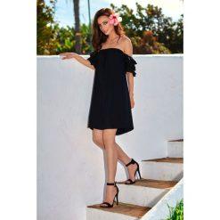 Idealna sukienka bez ramion  czarna FIFI. Czarne sukienki balowe Lemoniade, na co dzień, na lato, l, z klasycznym kołnierzykiem, w kształcie a. Za 159,90 zł.
