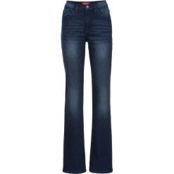 Dżinsy ze stretchem FLARED bonprix ciemnoniebieski. Niebieskie jeansy damskie bonprix. Za 109,99 zł.
