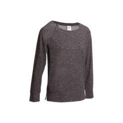 Koszulka z długim rękawem Gym. Czarne topy sportowe damskie marki DOMYOS, z elastanu. W wyprzedaży za 24,99 zł.
