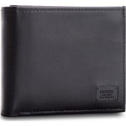Duży Portfel Męski GUESS - SM2530 LEA20  BLA. Czarne portfele męskie marki Guess, z aplikacjami, ze skóry. Za 259,00 zł.