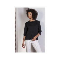 Luźna bluzka-frak, BLU140. Czarne bluzki nietoperze Lanti, biznesowe. Za 119,00 zł.
