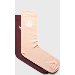 Adidas Originals - Skarpetki (2-pack). Brązowe skarpetki damskie marki adidas Originals, z bawełny. Za 39,90 zł.