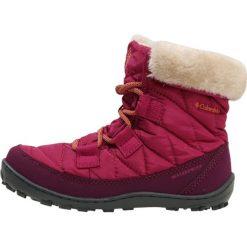 Columbia YOUTH MINX SHORTY OMNIHEAT WATERPROOF Śniegowce deep blush/bright peach. Szare buty zimowe damskie marki Columbia, ze skóry ekologicznej. W wyprzedaży za 175,45 zł.