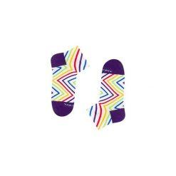 Tylna 99m3 - Tęczowe skarpetki stopki. Białe skarpetki męskie marki Takapara. Za 21,25 zł.