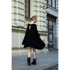 Sukienka BELLA czarna. Niebieskie sukienki na komunię marki Pakamera, z bawełny. Za 289,00 zł.