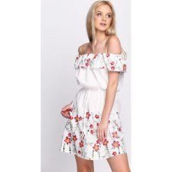 Długie sukienki: Biała Sukienka Maxi Floral