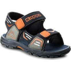 Sandały męskie skórzane: Sandały KAPPA – Pure K 260594K Navy/Orange 6744