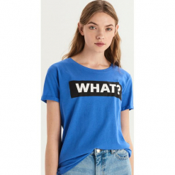 T-shirt z nadrukiem - Niebieski. Niebieskie t-shirty damskie Sinsay, l, z nadrukiem. Za 19,99 zł.