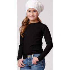 Dziecięca bawełniana bluzka z długim rękawem Jadea. Szare bluzki dziewczęce bawełniane Astratex. Za 23,38 zł.