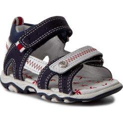 Sandały BARTEK - 11824-497 Błękitno/Biały. Niebieskie sandały męskie skórzane Bartek. W wyprzedaży za 169,00 zł.