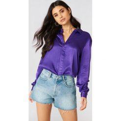 NA-KD Trend Jeansowe spodenki z wysokim stanem - Blue. Niebieskie szorty jeansowe damskie marki NA-KD Trend, z podwyższonym stanem. Za 161,95 zł.