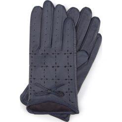 Rękawiczki damskie 45-6-519-GC. Niebieskie rękawiczki damskie marki Wittchen. Za 99,00 zł.
