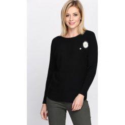 Swetry klasyczne damskie: Czarny Sweter Pretty Cool