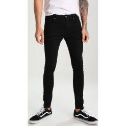 Topman VINCENT SPRY Jeans Skinny Fit black. Czarne rurki męskie Topman. W wyprzedaży za 183,20 zł.