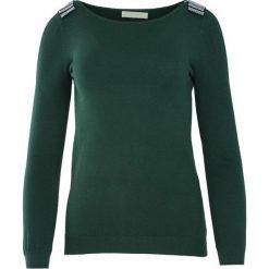 Ciemnozielony Sweter Out Action. Szare swetry klasyczne damskie Born2be, l, z dekoltem w łódkę. Za 49,99 zł.