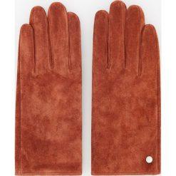 Skórzane rękawiczki - Czerwony. Brązowe rękawiczki damskie marki Roeckl. Za 69,99 zł.