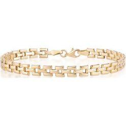 Bransoletki damskie na nogę: Bransoletka Złota - złoto żółte 585
