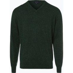 Swetry klasyczne męskie: Andrew James – Sweter męski z dodatkiem jedwabiu, zielony