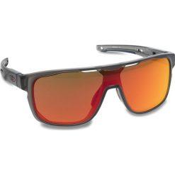 Okulary przeciwsłoneczne OAKLEY - Crossrange Shield OO9387-0431 Matte Grey Smoke/Prizm Ruby. Szare okulary przeciwsłoneczne męskie aviatory Oakley, z tworzywa sztucznego. W wyprzedaży za 579,00 zł.