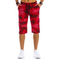 Spodenki i szorty męskie: Krótkie spodenki dresowe męskie camo czerwone (sx0325)