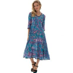 Odzież damska: Sukienka w kolorze turkusowo-fioletowym