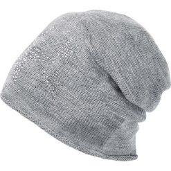 Czapka bonprix szary melanż. Szare czapki zimowe damskie marki bonprix, melanż. Za 29,99 zł.