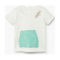 Mango Kids - T-shirt dziecięcy Water 80-104 cm. Szare t-shirty chłopięce Mango Kids, z bawełny, z okrągłym kołnierzem. W wyprzedaży za 29,90 zł.