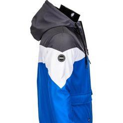 KURTKA MĘSKA PRZEJŚCIOWA SPORTOWA C316 - SZARA. Czarne kurtki sportowe męskie marki Ombre Clothing, m, z bawełny, z kapturem. Za 99,00 zł.