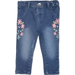 Rurki dziewczęce: Dżinsy Slim z faktem w kwiaty 1 miesiąc - 3 lata