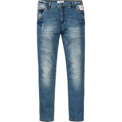 """Dżinsy ze stretchem Slim Fit Straight bonprix niebieski """"used"""". Niebieskie jeansy męskie relaxed fit marki bonprix, z jeansu. Za 89,99 zł."""