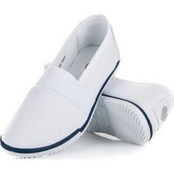 Tenisówki damskie: Białe tekstylne slipony mckeylor CLAIRE białe