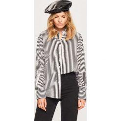 Koszula z bawełny organicznej - Czarny. Czarne koszule damskie marki Reserved, z bawełny. W wyprzedaży za 39,99 zł.