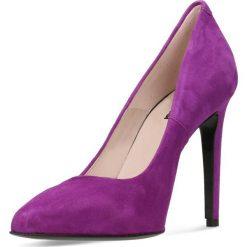 Czółenka INGRID. Fioletowe buty ślubne damskie marki Gino Rossi, ze skóry, na wysokim obcasie, na szpilce. Za 299,90 zł.