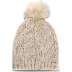 Czapka LIU JO - Cuffia Treccia Ponpo A18226 M0300 Soia 21404. Brązowe czapki zimowe damskie Liu Jo, z materiału. Za 149,00 zł.