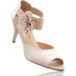 Buty ślubne damskie: Czółenka z odkrytymi palcami bonprix cielisty