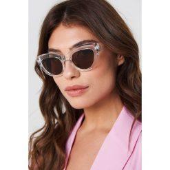 NA-KD Accessories Okulary przeciwsłoneczne kocie oczy - White,Silver. Białe okulary przeciwsłoneczne damskie aviatory NA-KD Accessories. Za 60,95 zł.