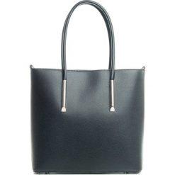 Torebki klasyczne damskie: Skórzana torebka w kolorze czarnym – 30 x 32 x 12 cm