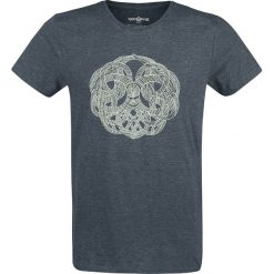 T-shirty męskie z nadrukiem: God Of War Yggdrasil T-Shirt odcienie niebieskiego
