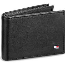 Duży Portfel Męski TOMMY HILFIGER - Eton Mini Cc Flap&Coin Pocket AM0AM00671/83369 002. Czarne portfele męskie TOMMY HILFIGER, ze skóry. Za 299,00 zł.