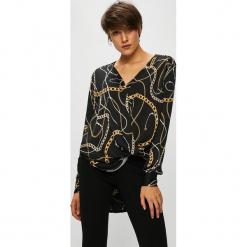 Guess Jeans - Bluzka Malou. Czarne bluzki asymetryczne Guess Jeans, m, z aplikacjami, z jeansu, casualowe. Za 369,90 zł.