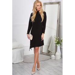 Sukienki: Czarna Sukienka Asymetryczna 1088